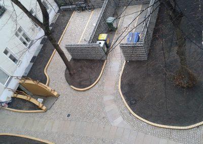Die neue Hofgestaltung vor der Fertigstellung