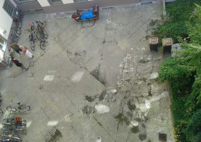 typischer Hinterhof vor dem Umbau