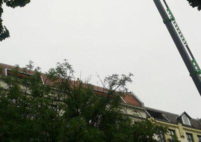 professionelle Materiallieferung für den Bau einer Dachterrasse