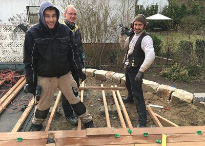 Das Team des Gärtnerhofs bei der Arbeit