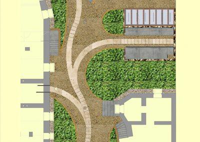 Entwurf zur Neugestaltung des Hinterhofs