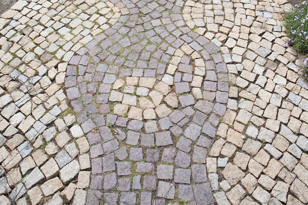 Mosaikpflaster mit Motiv